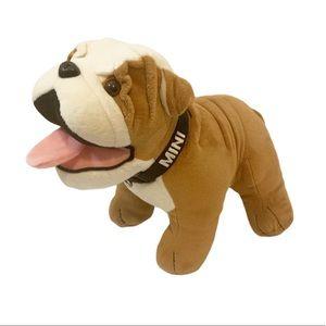 Mini Cooper Bulldog Plush Decor Stuffed Dog